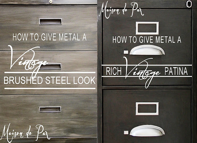 How to give metal a vintage brushed steel look -Maison de Pax