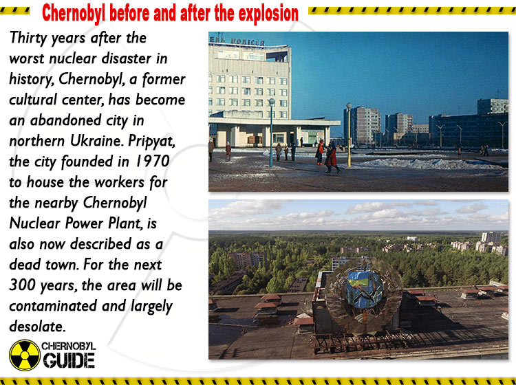 chernobyl before and after the explosion pictures