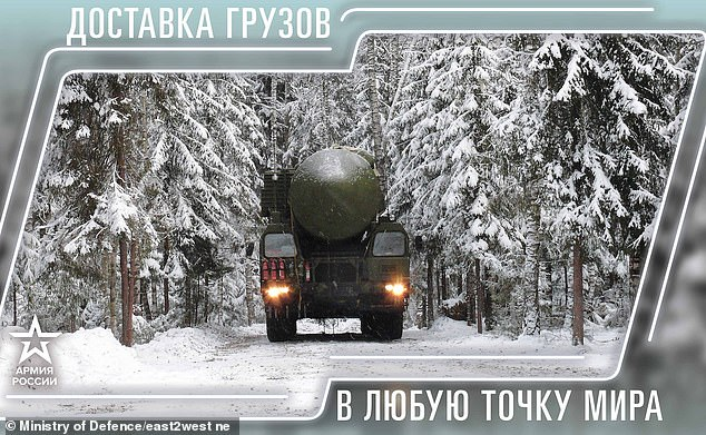 January shows an intercontinental missile being transported with the caption,