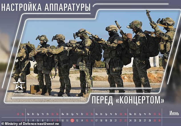 The month of June shows soldiers loading their guns with