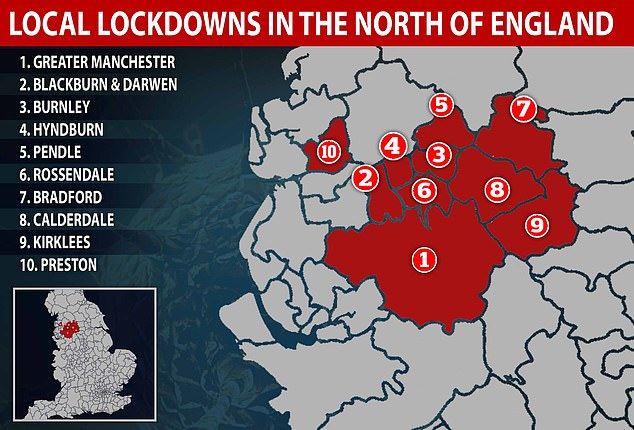 Preston is one of a number of areas in the north of England to be locked down in recent weeks