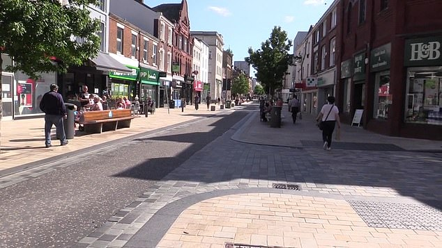 Preston town centre was quiet this morning after a local lockdown was enforced overnight