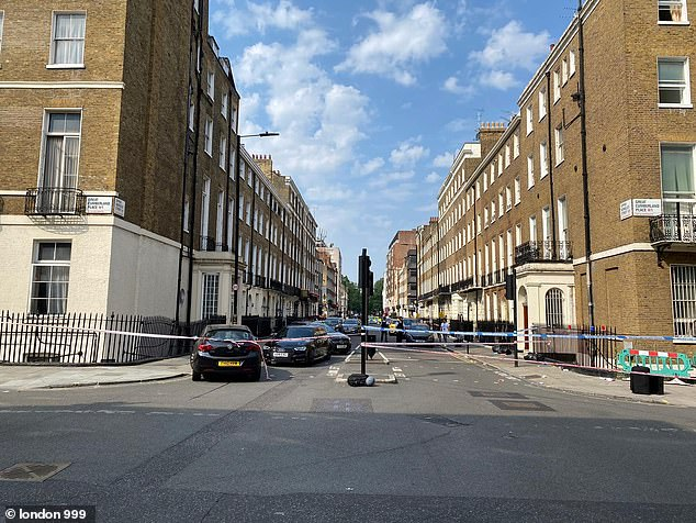 One of the victims, a man in his 20s, is said to be in a serious but stable condition with gunshot wounds following the shooting in Upper Berkeley Street, near to Marble Arch, in the early hours of Sunday morning