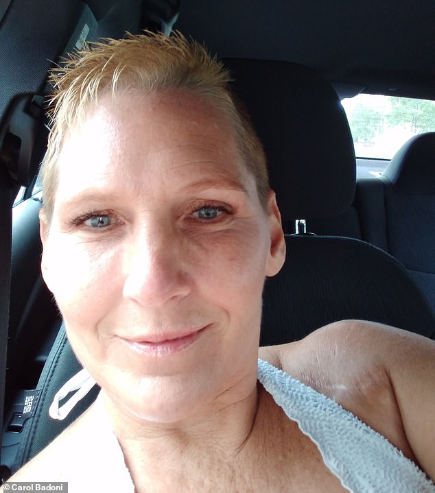 The 50-year-old mother-of-one (pictured) said she was wracked with guilt for not being able to save Huber, despite her heroic efforts, and asked his family for forgiveness