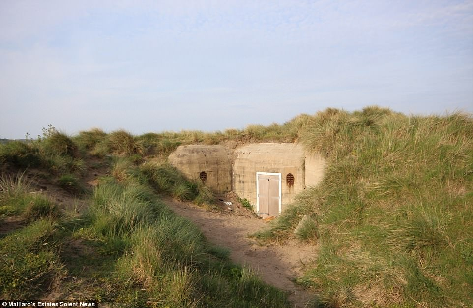 A bunker, pictured, that formed part of Hitler