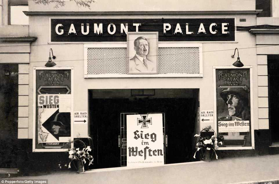 The bunker is a relic from the five years of Nazi occupation that Jersey endured, with buildings covered in Nazi propaganda during the time, such as the Gaumont Palace cinema, pictured