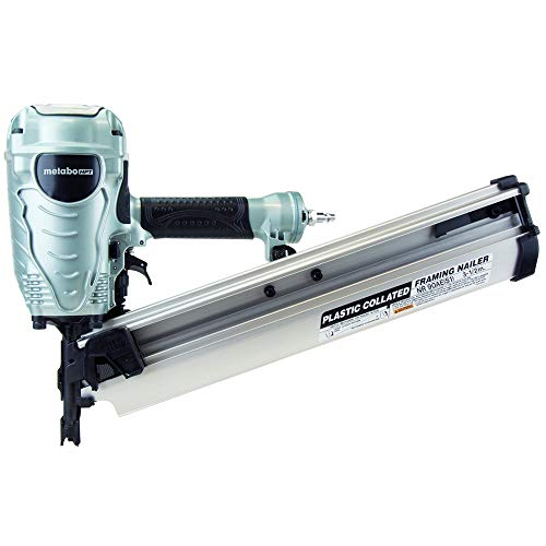 Metabo HPT Framing Nailer, The Pro Preferred Brand of Pneumatic Nailers, 21° Magazine, Accepts 2