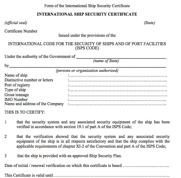 international-ship-security-certificate