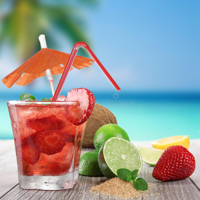 Fresh fruit drink royalty free stock photos