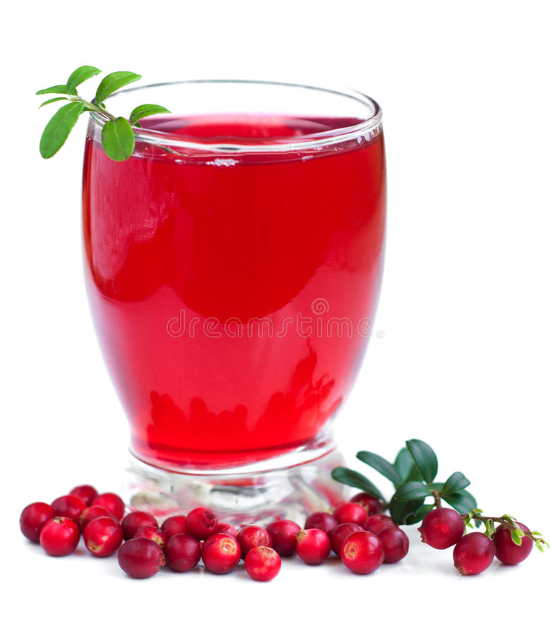 Fruit cranberries drink stock photos