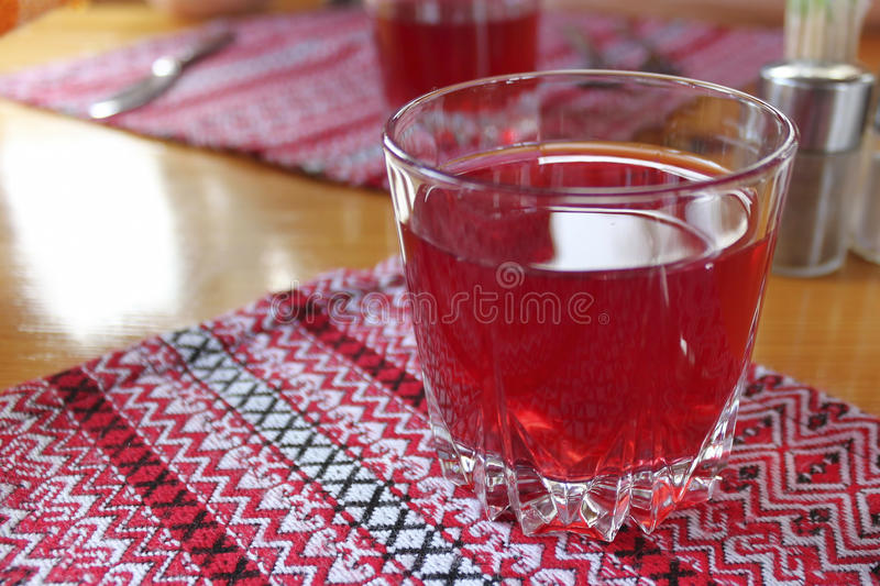 A glass of fruit drink stock images