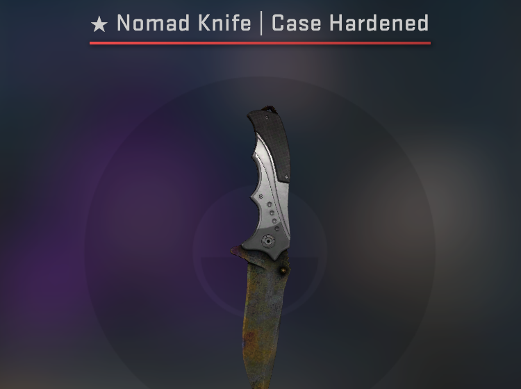Nomad Knife Case Hardened - Battle Scarred CS:GO Skin