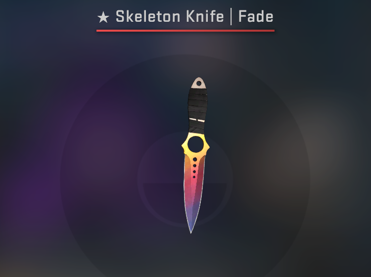 Skeleton Knife Fade - Factory New CS:GO Skin