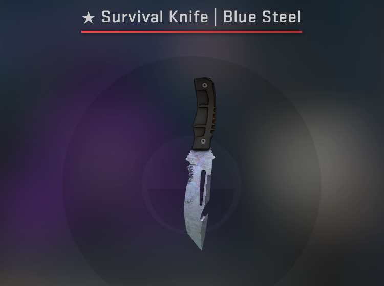 Survival Knife Blue Steel - Minimal Wear CS:GO Skin