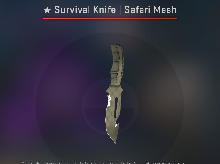 Survival Knife Safari Mesh - Minimal Wear CS:GO Skin