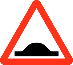 Traffic sign of Bangladesh: Warning for a speed bump