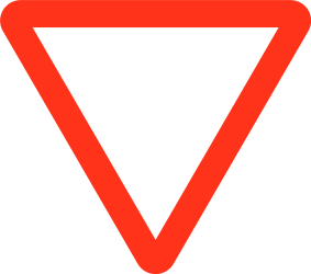 Traffic sign of Bangladesh: Give way to all drivers