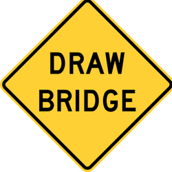 Traffic sign of United States: Warning for a movable bridge