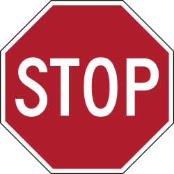 Traffic sign of United States: Stop and give way to all drivers