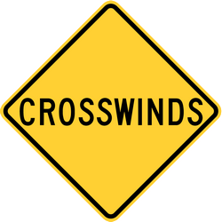 Traffic sign of United States: Warning for heavy crosswind