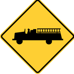 Traffic sign of United States: Warning for emergency vehicles