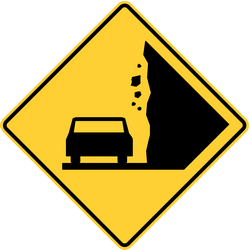 Traffic sign of United States: Warning for falling rocks