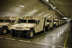 United States Marine Corps vehicles stored in a Norwegian cave in 2012 as part of the Marine Corps Prepositioning Program-Norway