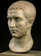 Gallienus is depicted as a serious young man, unaware of the problems to come