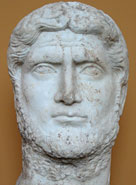 Here, an older Gallienus is frowning, concerned, determined - staring at an uncertain future
