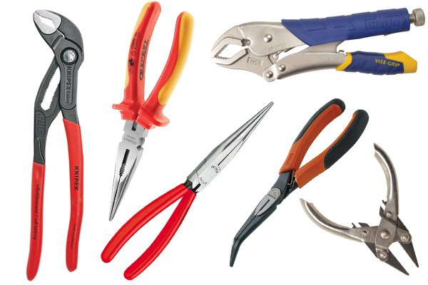 Pliers come in different designs. Pliers are used to grip